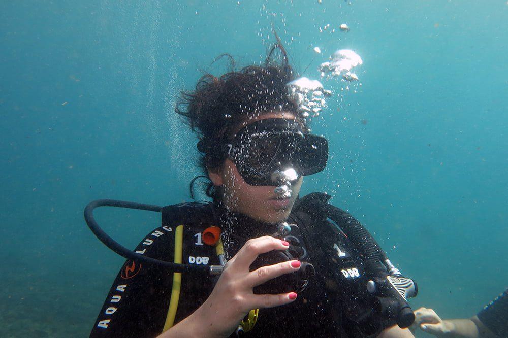 cours de plongée sous-marine